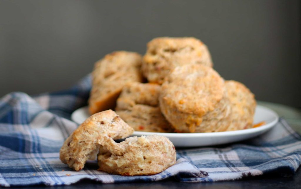 Cheddar Bacon Beer Biscuits - Bake.Eat.Repeat.
