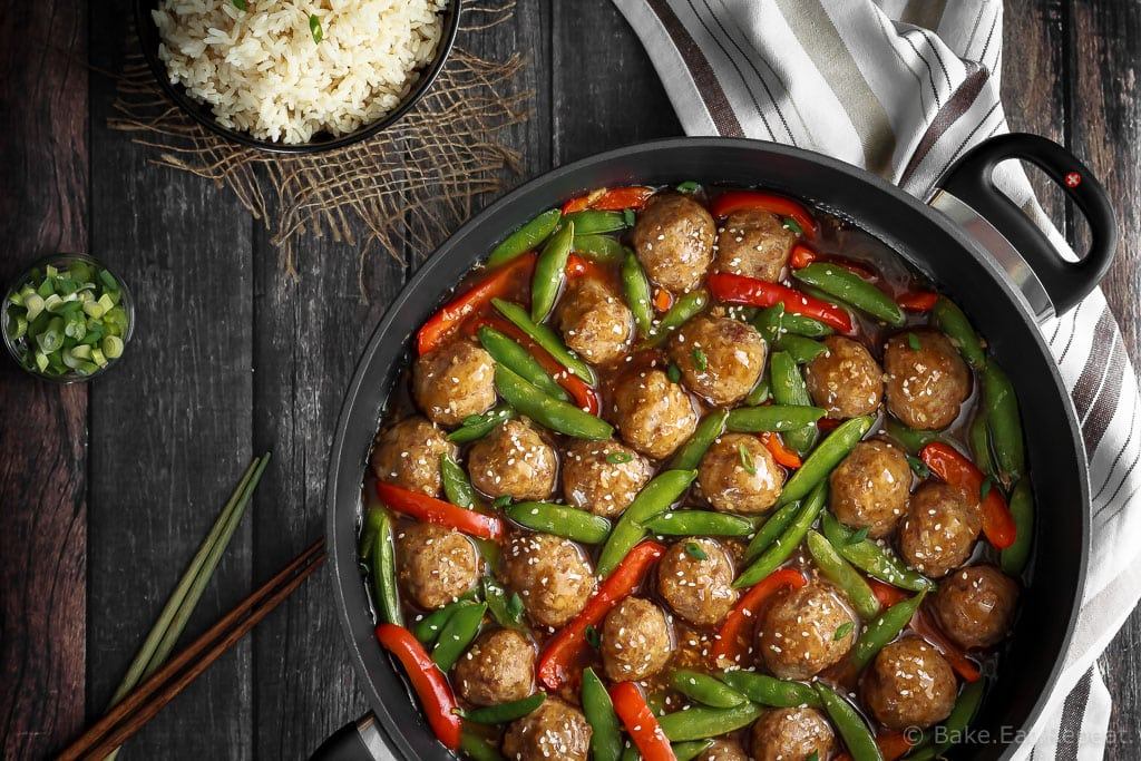 These honey garlic meatballs are easy to make and the whole family will love them! Serve over rice or quinoa for an easy and tasty meal!